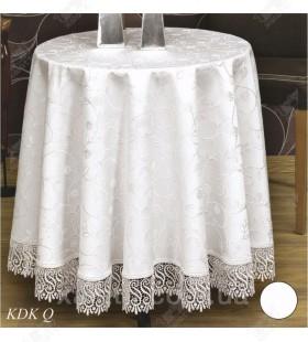 Скатерть круглая Q 160 синтетика Maison Royal белая