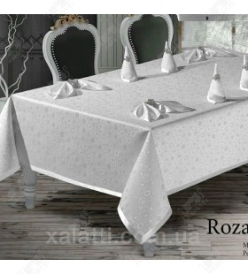 Скатерть 160*220 c салфетками MR Rosalite белая
