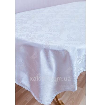 Скатерть 160*220 белая синтетика Infine