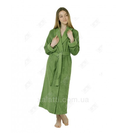Халат женский махровый бамбук Mevsim Eke зеленый