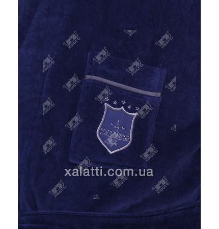 Халат мужской махровый хлопок Boswell Maison D'or синий