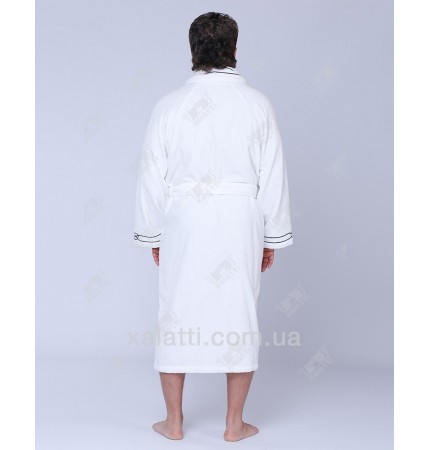 Халат мужской махровый микрокотон Marine SoftCotton белый