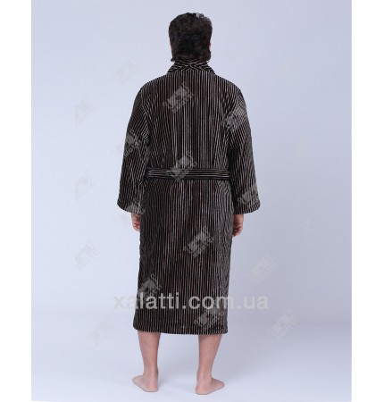 Халат мужской махровый Platinum SoftCotton коричневый