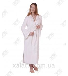 Халат женский махровый бамбук Softcotton Ruya белый