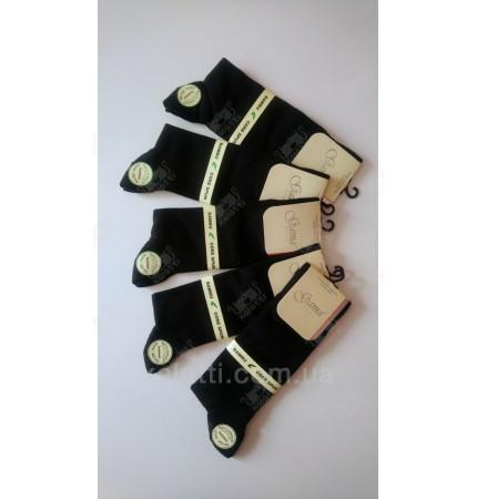 Мужские носки черные бамбук 40-45 Gama  Турция