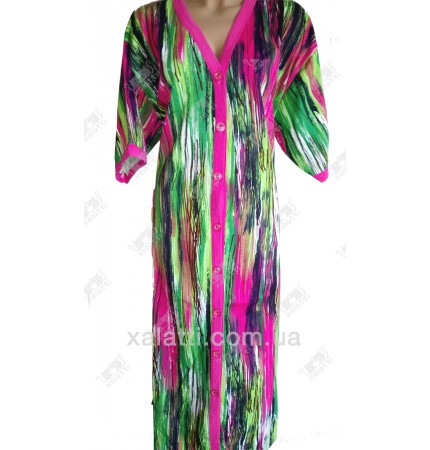 Женский трикотажный халат Esra k.2005 полосатый