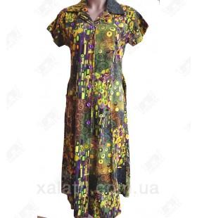 Женский трикотажный халат к.2340 оливковый