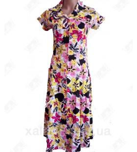 Женский трикотажный халат к.2340 желтый