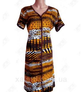 Женский трикотажный халат Esra k.2518 оранжевый