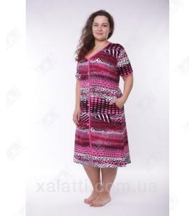 Женский трикотажный халат Esra k.2518 сиреневый