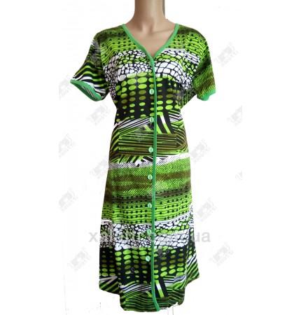 Женский трикотажный халат 50-52 Esra k.2518 салатовый