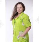 Халат жатый ситец зеленый
