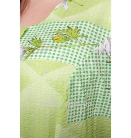 Сарафан жатый ситец зеленый