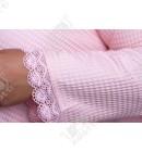 Вафельный женский халат короткий бамбук Nusa розовый