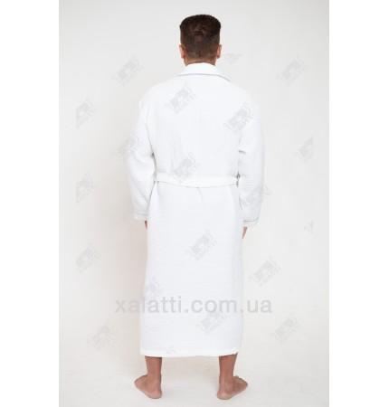 Вафельный мужской халат Karna белый