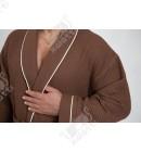 Вафельный мужской халат Karna коричневый