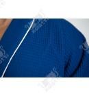 Вафельный мужской халат Karna синий