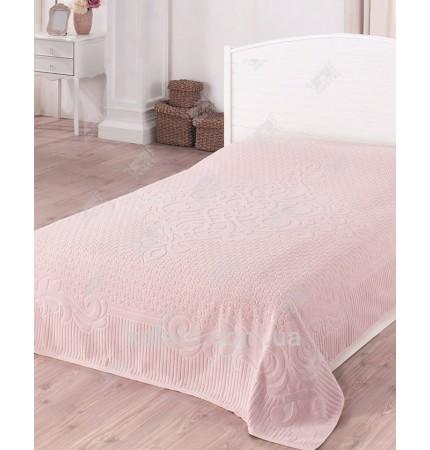 Махровая простыня 200*220 хлопок Gulsan розовый