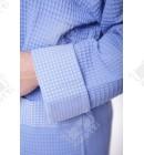 Халат вафельный женский короткий Massimo Monelli голубой