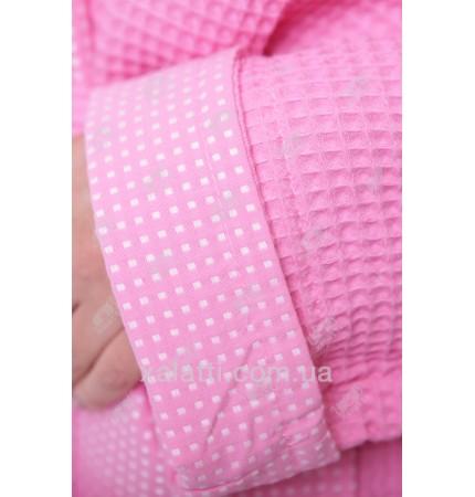Халат вафельный женский Massimo Monelli розовый