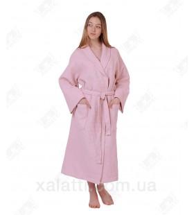 халат вафельный женский Maison D'or розовый