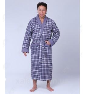 халат вафельный мужской Massimo Monelli серый