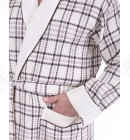 Халат вафельный мужской Massimo Monelli кремовый