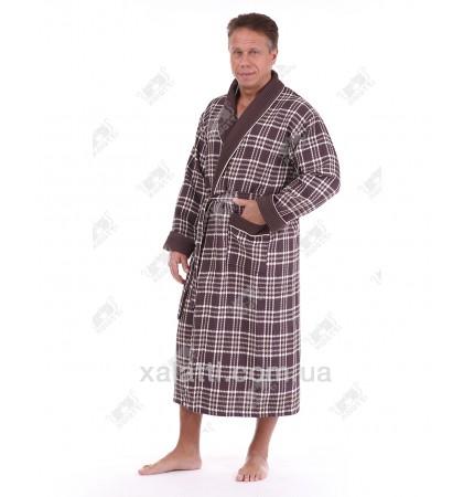 халат вафельный мужской Massimo Monelli коричневый