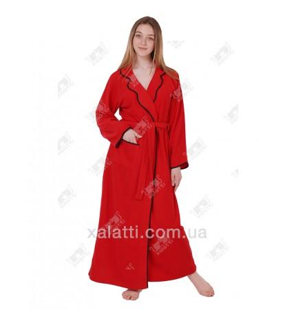 Халат флисовый женский красный Marilyn