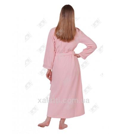 """Халат велюровый женский """"Рельеф"""" Marilyn розовый"""