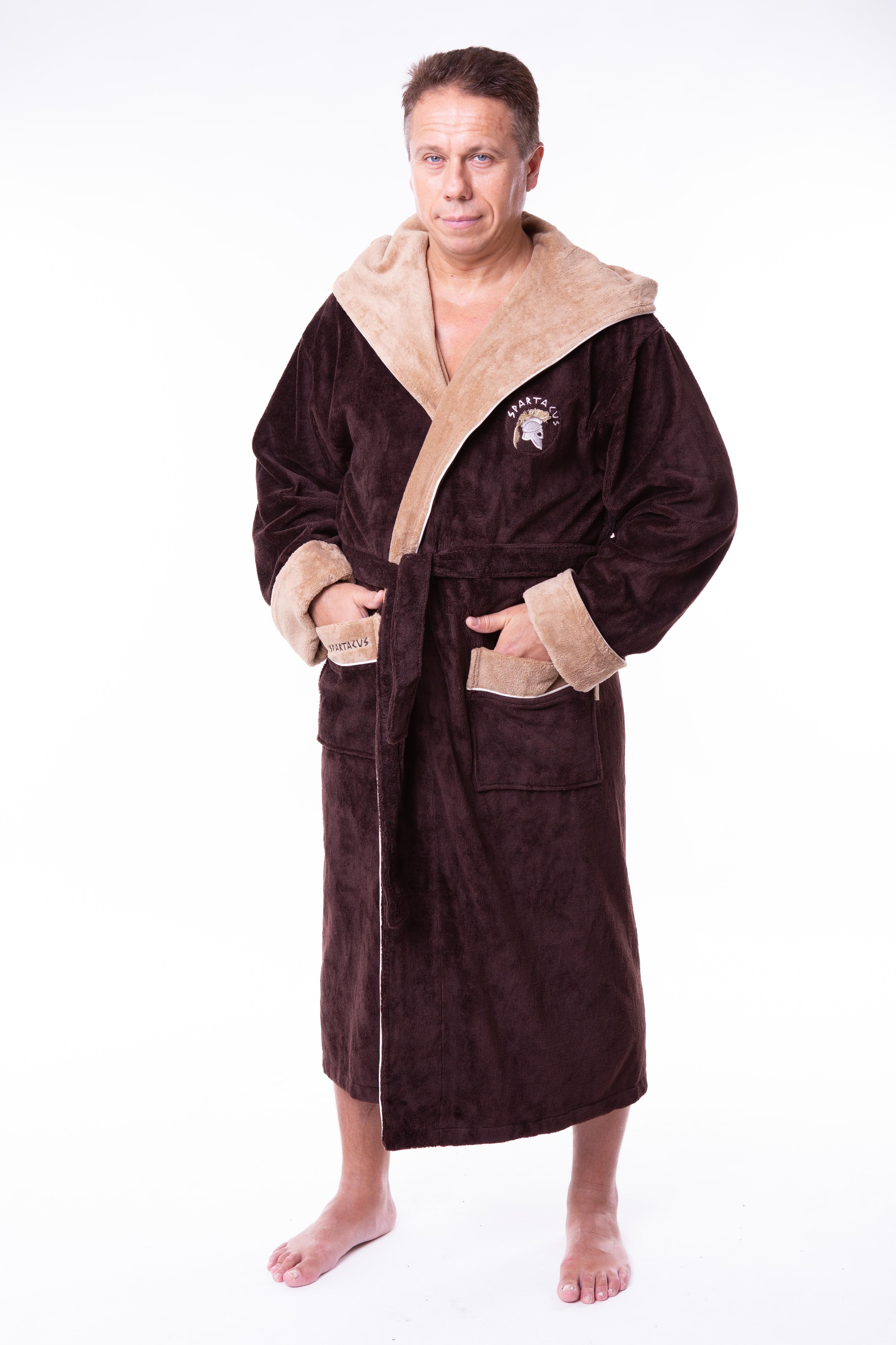 86d5201d02a Купить Халат мужской махровый капюшон 50-58