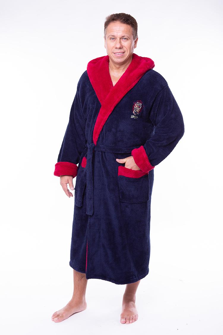 5928dbf65c6c Купить Мужской махровый халат капюшон 52-54 софт красный от Aldona